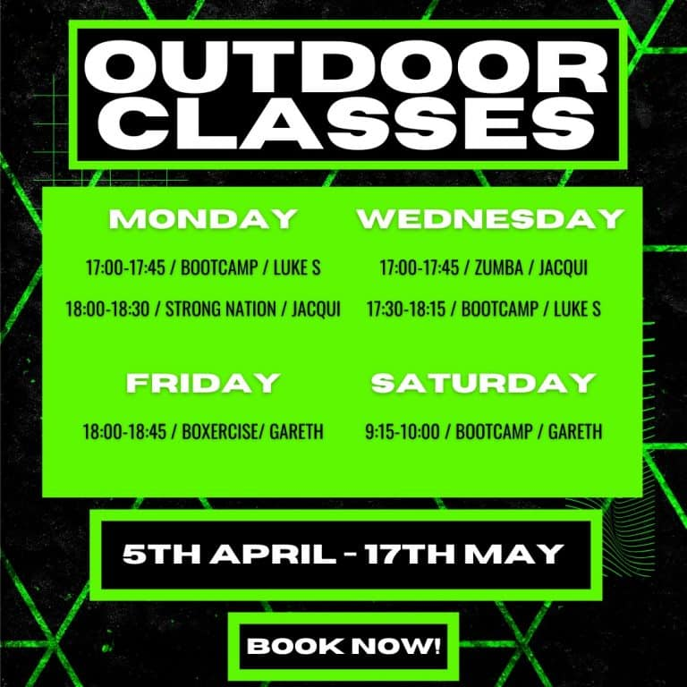 The Fit Club Outdoor Classes - March 2021